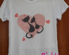 Camiseta Baby-Look - Gatos