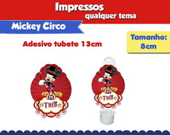 Circo do Mickey Rótulo Tubete