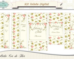 Kit Toilette Floral Digital - PROMOÇÂO
