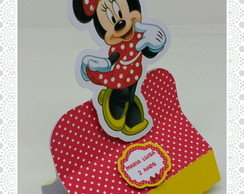 Porta chocolate Minnie vermelha