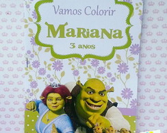 revista de colorir Shrek