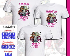 Kit 03 Camisetas Monster High