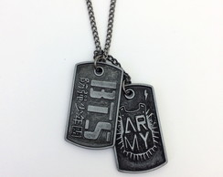 Colar Dog Tag BTS Army