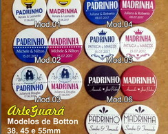 Botton 45 mm (4,5 cm) - Padrinhos
