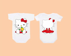 Camiseta OU Body Kitty Frente e Costas