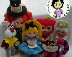 Kit Bonecos Decorativos Turma da Alice