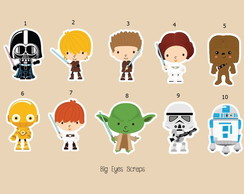 Aplique Star Wars 5 - 3,5 cm
