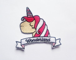 Patch Bordado Unicórnio Wonderland - modelo1