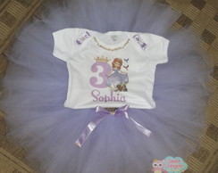 Kit Body + Saia de Tule -Princesa Sofia