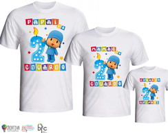 Kit Camisetas 3 Uni. Pocoyo