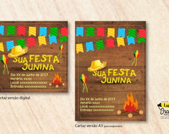 Cartaz festa junina pronto