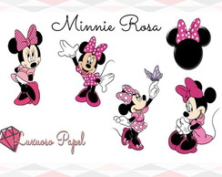 Aplique 5 cm - MINNIE ROSA