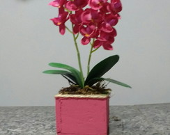 Arranjo Orquídea Rosa (artificial)