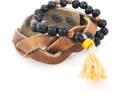 Kit de Pulseiras Leather Japamala