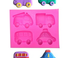 Molde Silicone Modelo Carros Cartoon