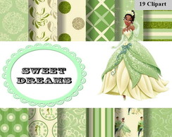 kit scrapbook digital Princesa Tiana