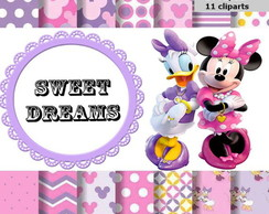 kit scrapbook digital minnie e margarida