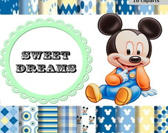 kit scrapbook digital Mickey Baby