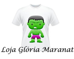 CAMISETA DO HULK INFANTIL C/1