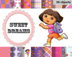 Kit scrapbook digital Dora