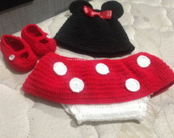 Conjunto Croche Minnie