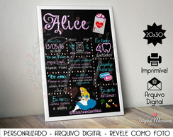 Chalkboard Digital - Alice in Wonderland