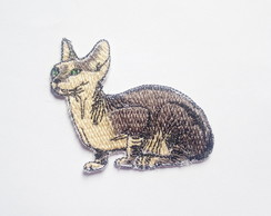 Patch Bordado Gato Raça Sphynx