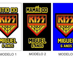 Kit 4 camisetas Pretas Kiss - REF00