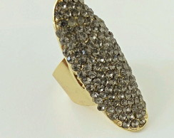 Anel strass black diamond