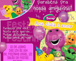 Convite Barney Virtual digital