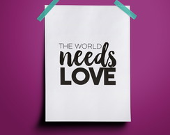 Poster The World needs Love