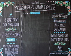 Painel para foto Casamento - Chalkboard