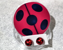 Brincos Miraculous Lady Bug