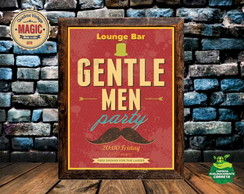 Quadro Vintage Gentlemen party