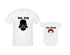 Kit Camiseta Darth Vader e Princesa Leia Baby