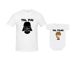 Kit Camiseta Darth Vader e Luke Skywalker Baby