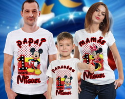Kit Camisa mickey mouse (3 und's)