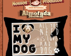Almofada I Love My Dog - 38x28