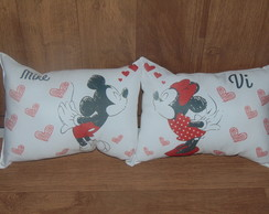 Kit Almofada 20x30 cm Minnie e Mickey