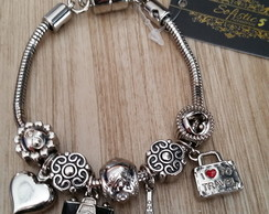 Pulseira estilo Pandora I Love Travel