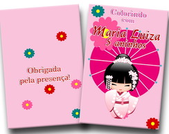 revista colorir kokeshi 14x10