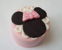Mini pão de mel Minnie rosa