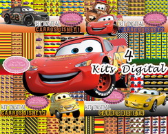 kit digital Mc Queen Carros Disney 4 kits