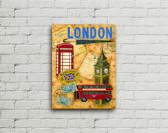 Placa Vintage Retro London
