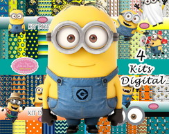 4 Kits Digital Minions scrapbook