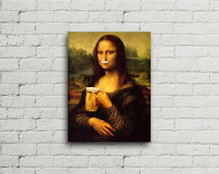 Placa Vintage Retro Mona Lisa