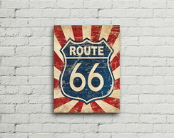 Placa Vintage Retro Route 66