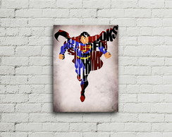 Placa Vintage Retro Superman