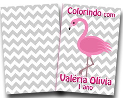 revista colorir flamingo 14x10
