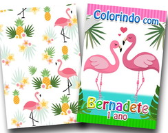 flamingos revista para colorir 14x10